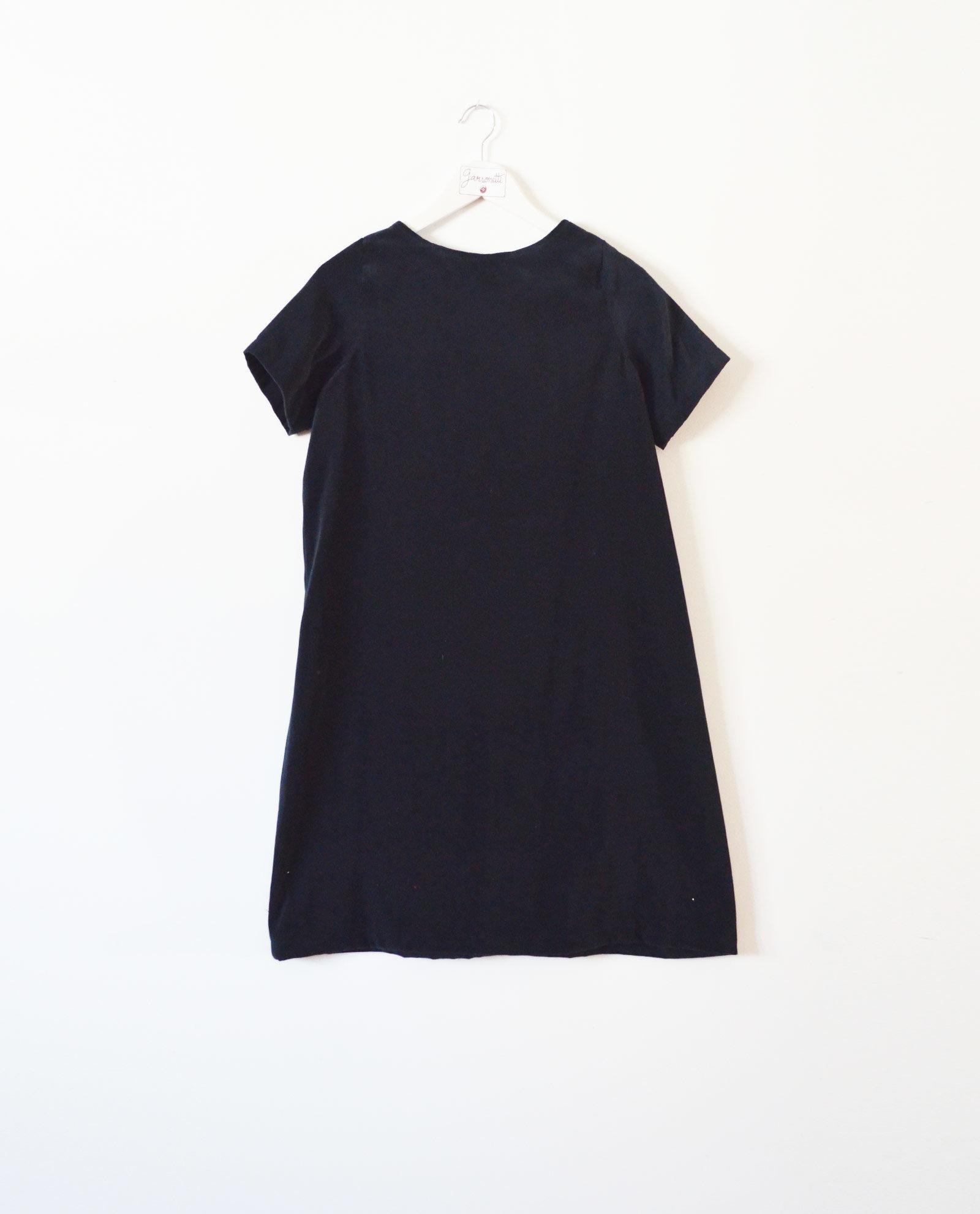 vestido terciopelo azul garsonetti