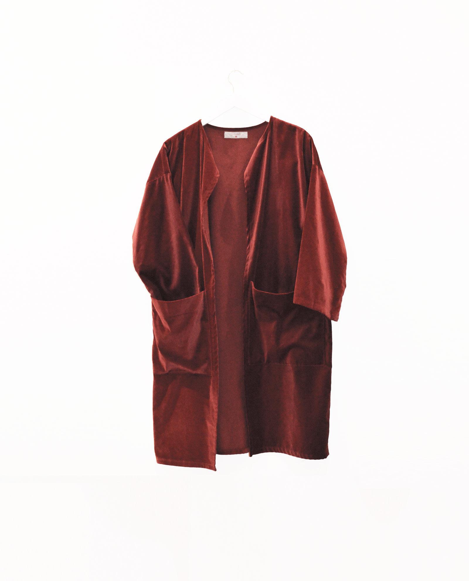 abrigo terciopelo caldera garsonetti