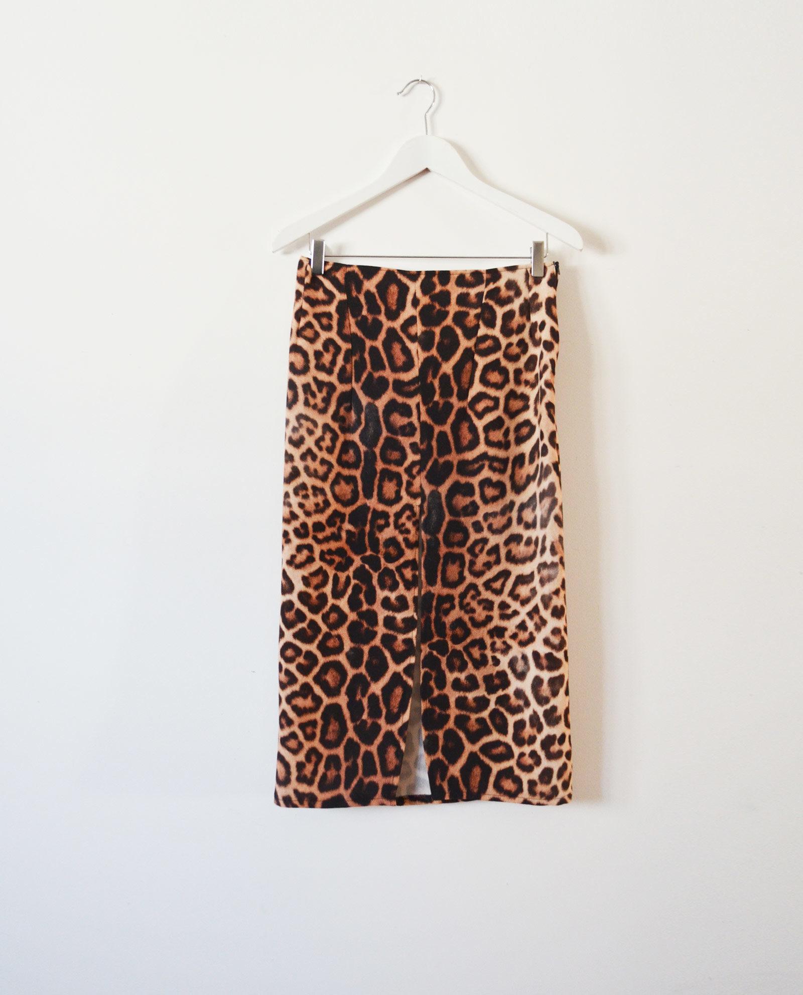 falda midi leopardo garsonetti