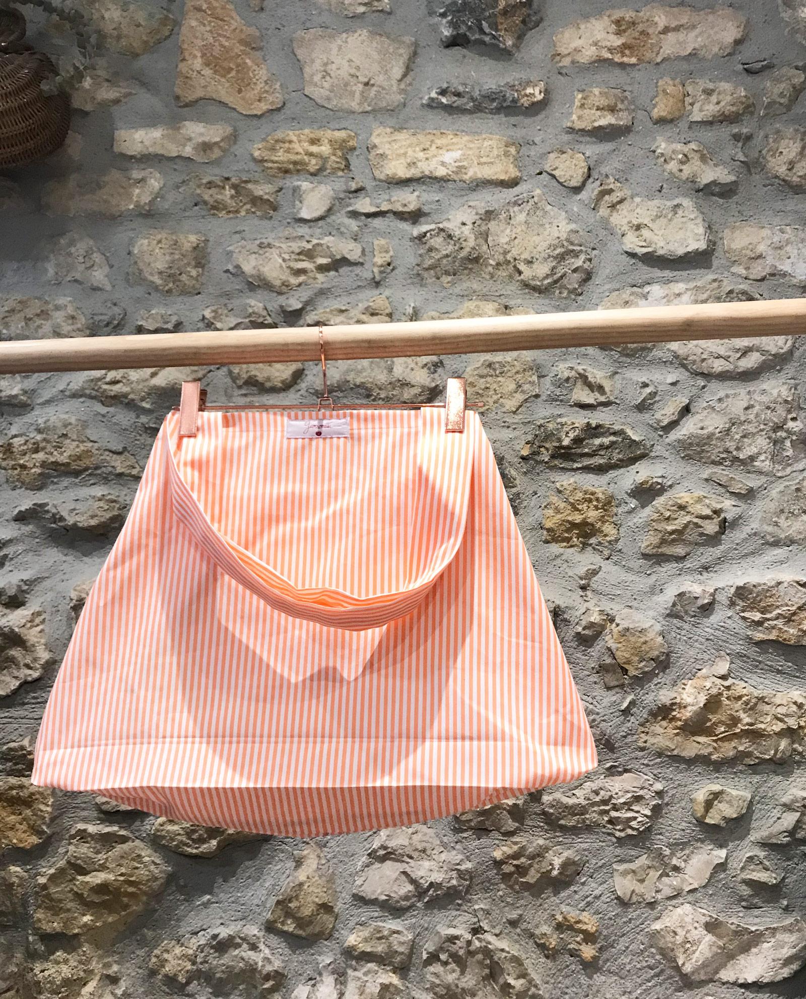 bolsa-playa-rayas-naranja-y-blanco